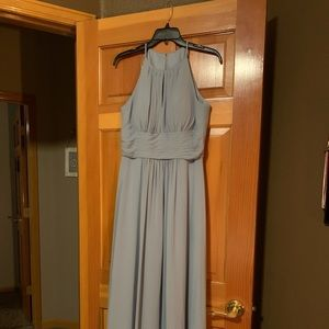 Azazie size 0 bridesmaid dress light blue